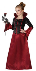 Girls Vampire Queen Fancy Dress Costume