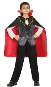 Boys Gothic Vampire Fancy Dress Costume