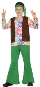 Boys 1960s Hippie Fancy Dress Costume