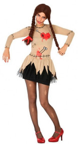 Ladies Sexy Voodoo Doll Fancy Dress Costume