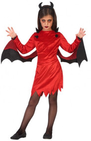 Girls Demon Devil Fancy Dress Costume