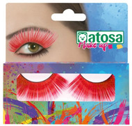 Ladies Long Red False Eyelashes