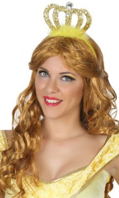 Gold Sparkly Princess Crown Hairband