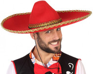 Adults Red Sombrero Hat
