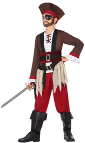 Boys Argh Pirate Fancy Dress Costume