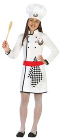 Girls Top Chef Fancy Dress Costume