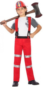 Child's Firefighter Fancy Dress Costume