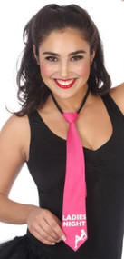 Ladies Hot Pink Hen Party Tie