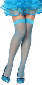 Ladies Blue Fishnet Fancy Dress Stockings