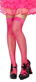 Ladies Pink Fishnet Fancy Dress Stockings