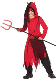 Boys Scary Demon Fancy Dress Costume