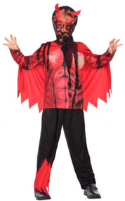 Boys Scary Devil Fancy Dress Costume