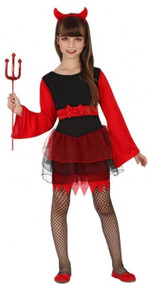 Girls Pretty Devil Fancy Dress Costume