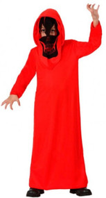 Boys Red Evil Demon Fancy Dress Costume
