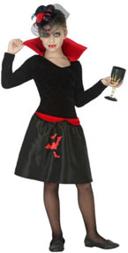 Girls Vampire Cutie Fancy Dress Costume