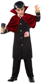 Boys Evil Vampire Fancy Dress Costume
