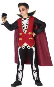 Boys Skeleton Vampire Fancy Dress Costume