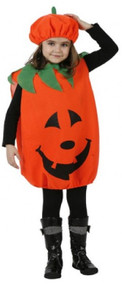 Child's Orange Pumpkin Fancy Dress Costume