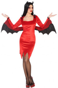 Ladies Sultry Devil Fancy Dress Costume