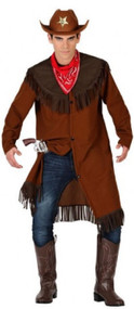 Mens Wild West Cowboy Fancy Dress Costume