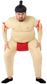 Mens Comedy Sumo Fancy Dress Costume