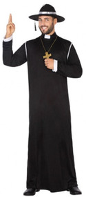 Mens Holy Priest Fancy Dress Costume