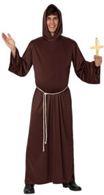 Mens Religious Monk Fancy Dress Costume