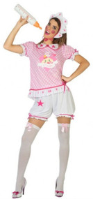 Ladies Pink Big Baby Fancy Dress Costume
