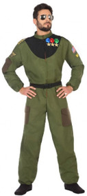 Mens 80s Pilot Fancy Dress Costume