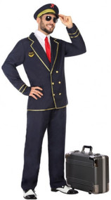 Mens Navy Pilot Fancy Dress Costume