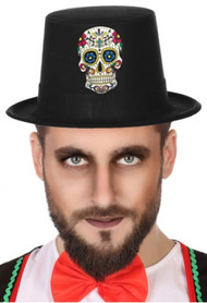 Adults Sugar Skull Fancy Dress Hat