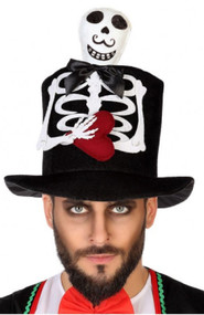 Adults Skeleton Top Hat Accessory
