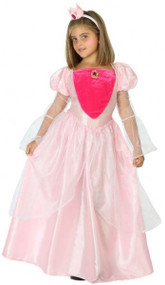 Girls Pink Fairytale Princess Fancy Dress Costume