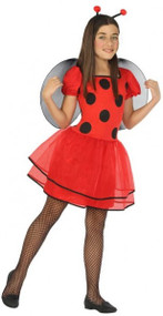 Girls Lovely Ladybird Fancy Dress Costume