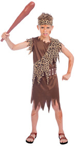 Boys Prehistoric Caveman Fancy Dress Costume 1