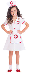 Girls Hospital Nurse Fancy Dress Costume