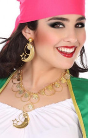 Ladies Gold Coin Earings and Necklace Jewellery