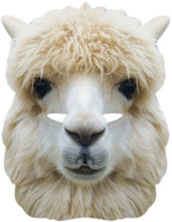 Adult Alpaca Fancy Dress Mask