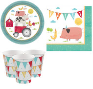 Barnyard Animals Party Tableware Set