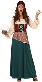 Ladies Fortune Teller Fancy Dress Costume