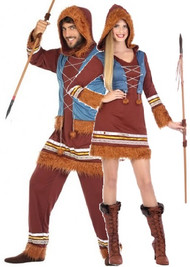 Couples Polar Eskimo Fancy Dress Costumes