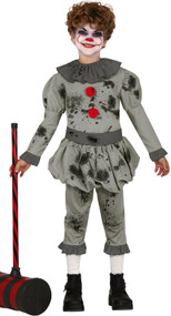 Boys Bad Clown Fancy Dress Costume