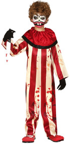Boys Horror Clown Fancy Dress Costume