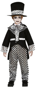 Boys Dark Mad Hatter Fancy Dress Costume