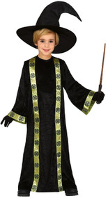 Boys Black Magician Fancy Dress Costume