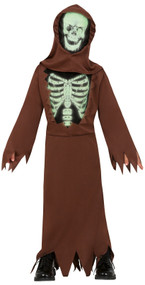 Boys Glow In The Dark Skeleton Fancy Dress Costume