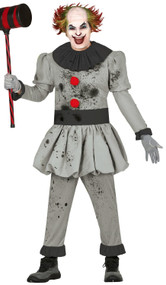 Mens Bad Clown Fancy Dress Costume
