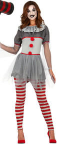 Ladies Bad Clown Fancy Dress Costume