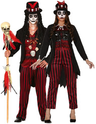 Couples Halloween Voodoo Fancy Dress Costumes