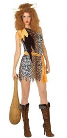 Ladies Cavelady Fancy Dress Costume
